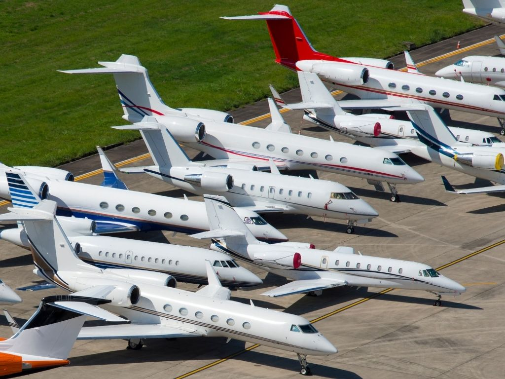 there are lots of makes and models to choose from when buying a private jet